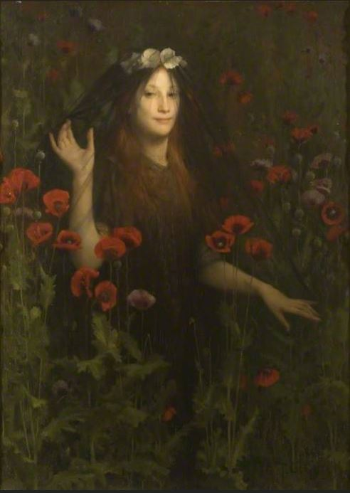 The Fortean Bride Death, the Bride, Thomas Cooper Gotch http://artuk.org/discover/artworks/death-the-bride-46020/view_as/grid/search/keyword:bride/page/2
