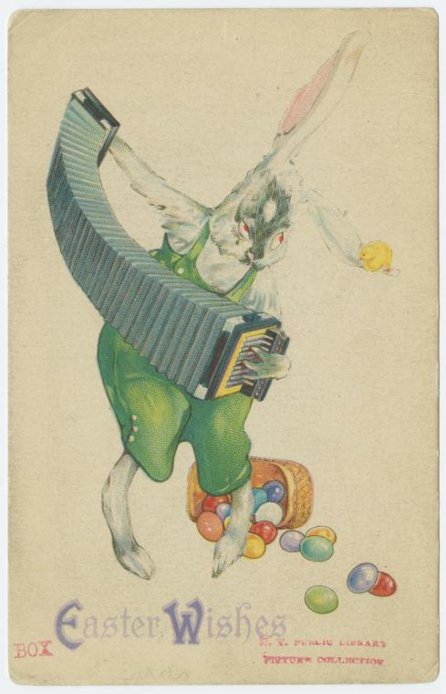A Sinister Easter Rabbit and an Accordion
