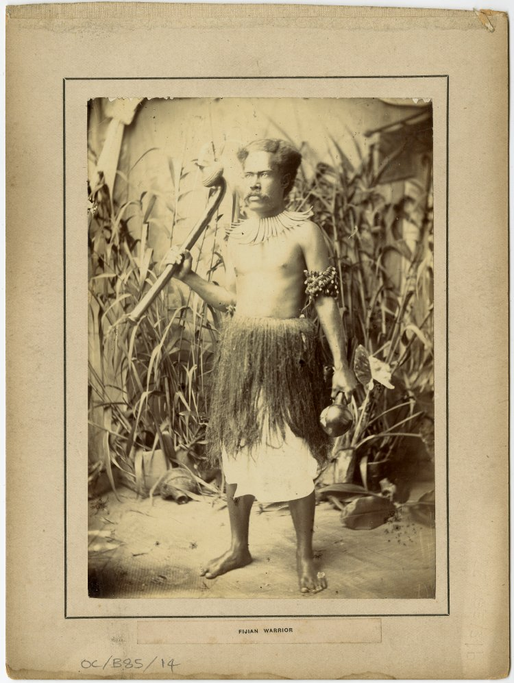 A warrior of Fiji, c. 1900 http://www.britishmuseum.org/research/collection_online/collection_object_details.aspx?objectId=3081693&partId=1&searchText=fiji+warrior&images=true&page=1