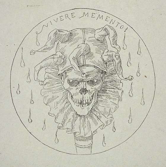 Rictus Mortis: Killer Clowns Vivere Memento, Felicien Victor Joseph Rops, c. 1850 http://collections.lacma.org/node/249602