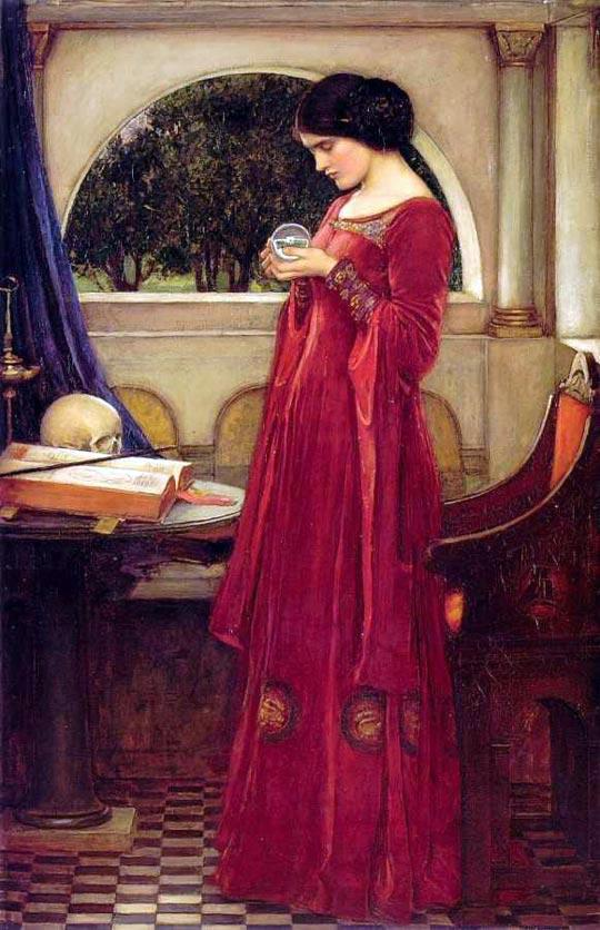 Crystal-Seers in Lancashire The Crystal Ball, John William Waterhouse, https://en.wikipedia.org/wiki/John_William_Waterhouse#/media/File:John_William_Waterhouse_-_The_Crystal_Ball.JPG