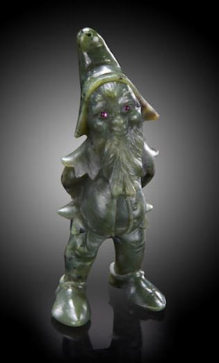 The Figure in the Flame. A nephrite gnome with ruby eyes. http://www.bonhams.com/auctions/21611/lot/7593/