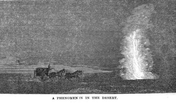 A Pillar of Fire by Night The strange light phenomenon in the Egyptian desert.