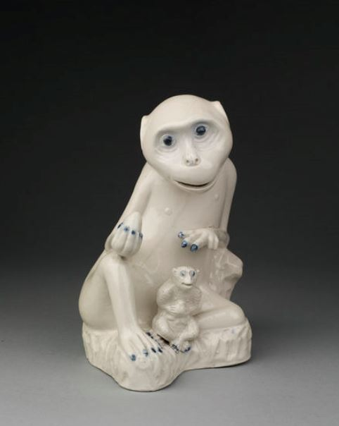 The Staffordshire potteries conception of a monkey. http://collections.vam.ac.uk/item/O151213/figure-unknown/