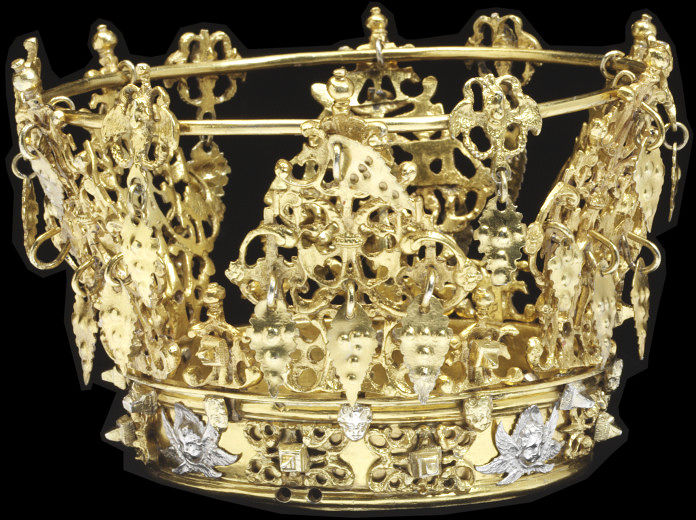 Fairy Crowns of Scandinavia Swedish wedding crown, 1750-1870 http://collections.vam.ac.uk/item/O117995/bridal-crown-unknown/