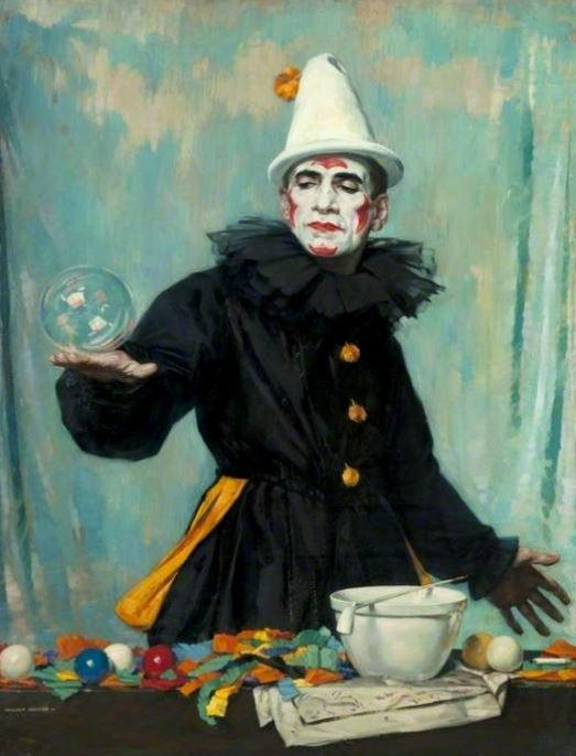 The Bubble Reputation, William Hunter, 1928 http://artuk.org/discover/artworks/the-bubble-reputation-84606/search/keyword:clown/page/3