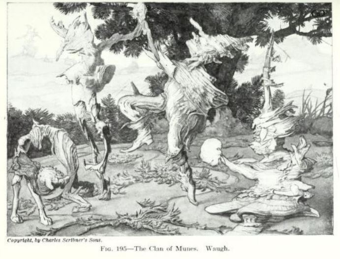 Magical Folk and Munes Illustration from The Clan of the Munes