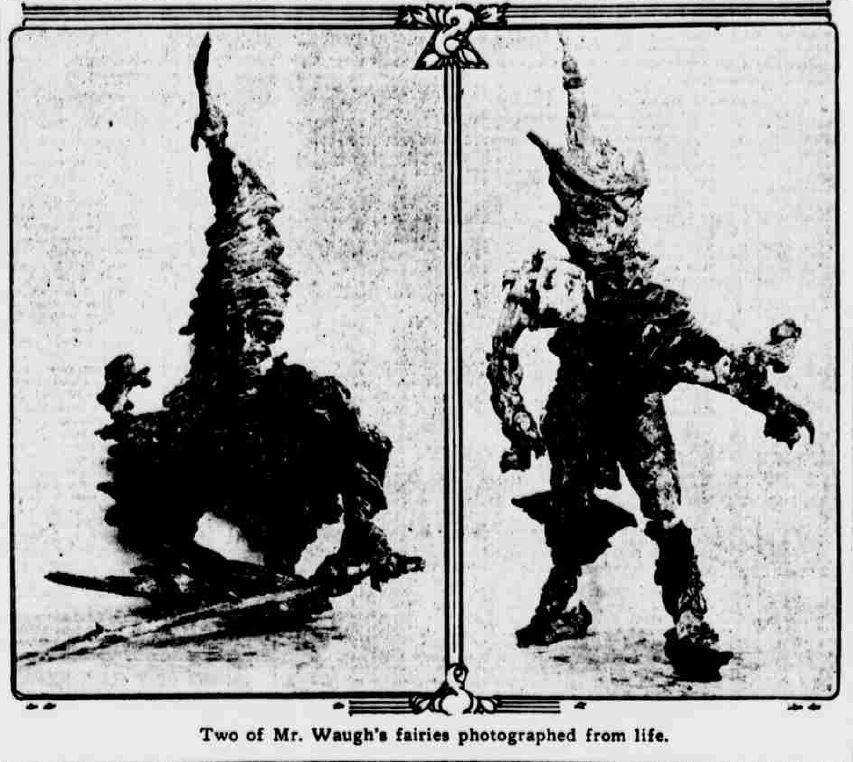 Magical Folk and Munes: Two of Mr. Waugh's fairies or Munes, photographed from life.