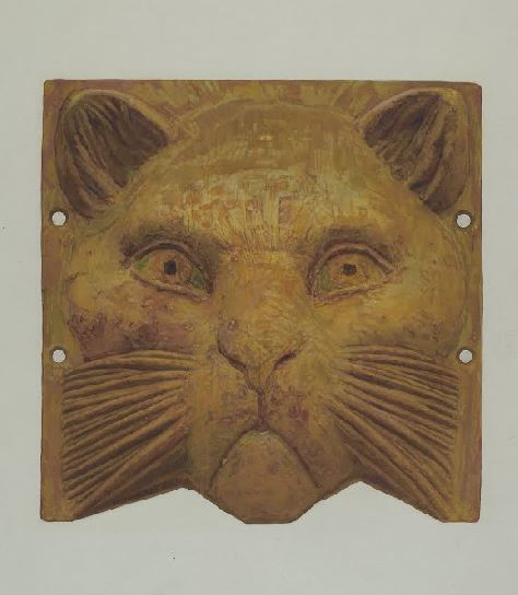 Yellow, Kitty! The kitty cat in yellow https://www.google.com/culturalinstitute/beta/asset/cast-iron-cat-s-head/IgGWD1tbxeq3eg