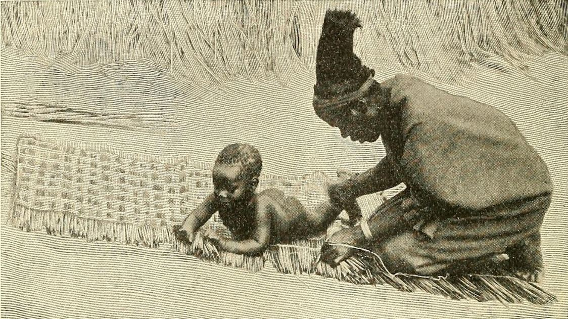 A Woman Wailing in Zululand. Zulu woman and child 1902